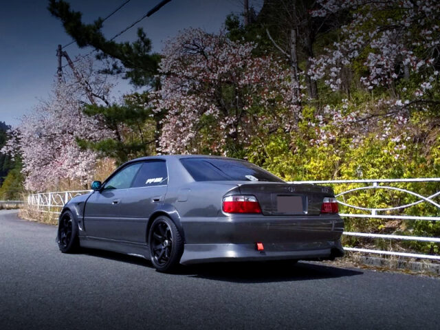 REAR EXTERIOR OF JZX100 CHASER TOURER-V to R35 GRAY.