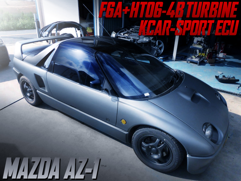 HT06-4B TURBOCHARGED MAZDA AZ-1 to MATTE GREY.