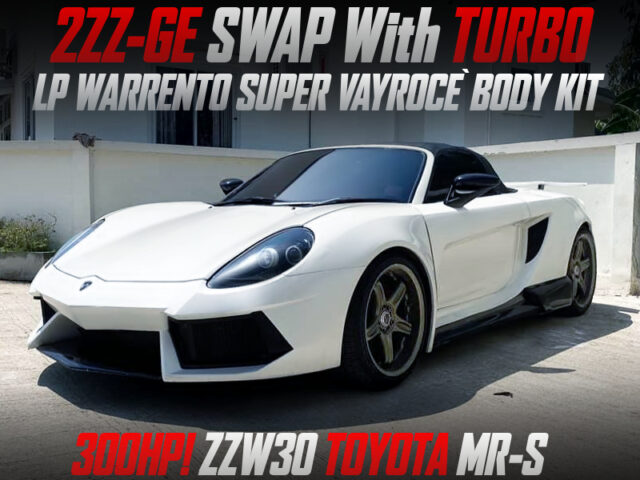 2ZZ SWAP with TURBO INTO ZZW30 TOYOTA MRS WIDEBODY.