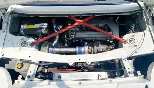 TURBOCHARGED 2ZZ-GE ENGINE.