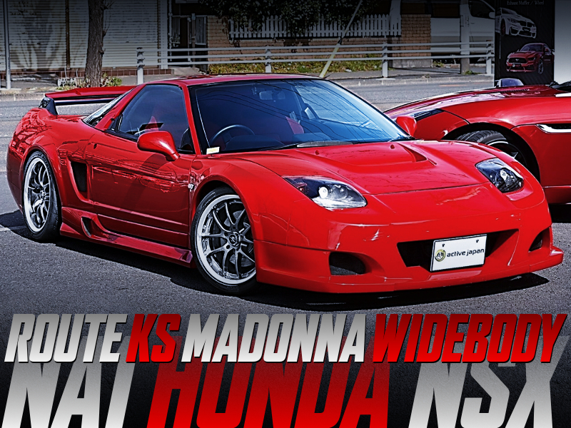 ROUTE KS MADONNA WIDEBODY INSTALLED NA1 HONDA NSX to RED.