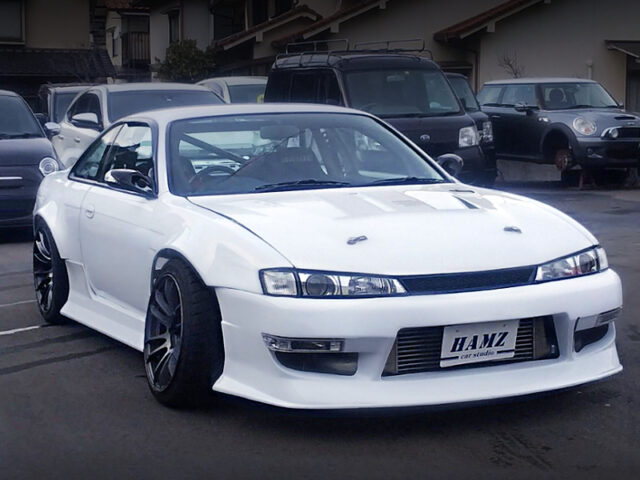 FRONT EXTERIOR OF S14 SILVIA WIDEBODY.