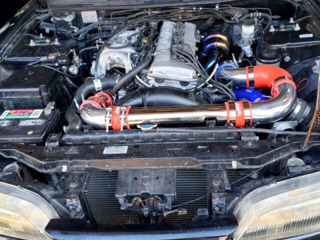 KA24DE 2.4L DOHC ENGINE with BOLT-ON TURBO.
