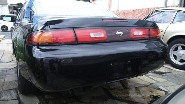 REAR EXTERIOR OF S14 ZENKI 240SX to BLACK.
