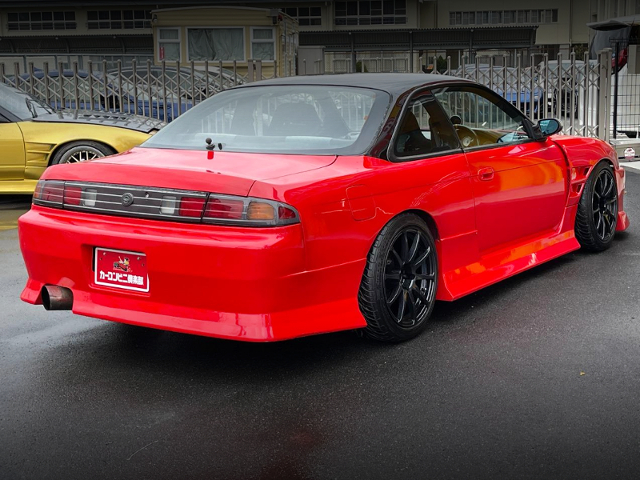REAR EXTERIOR OF FACELIFT S14 SILVIA with RED.