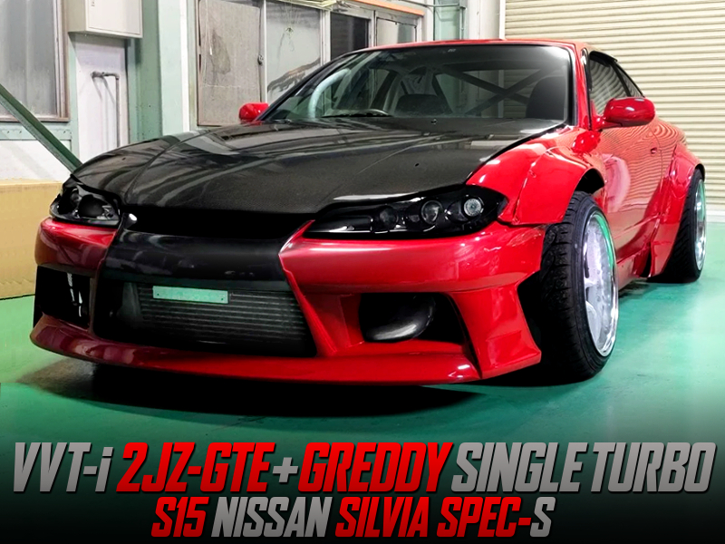 GREDDY SINGLE TURBOCHARGED 2JZ-GTE INTO S15 SILVIA
