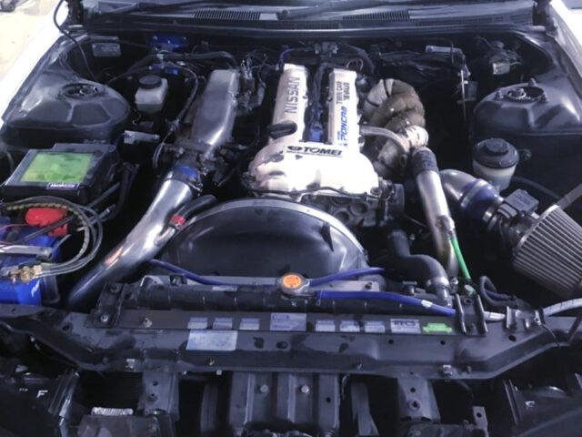 SPEC-R SR20DET TURBO ENGINE INSTALLED S15 SILVIA VARIETTA ENGINE ROOM.