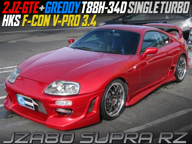 GREDDY T88H-34D TURBOCHARGED JZA80 SUPRA RZ to RED.