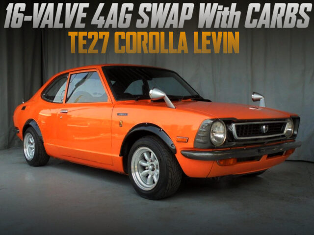 16V 4AG SWAP With CARBS into TE27 COROLLA LEVIN.