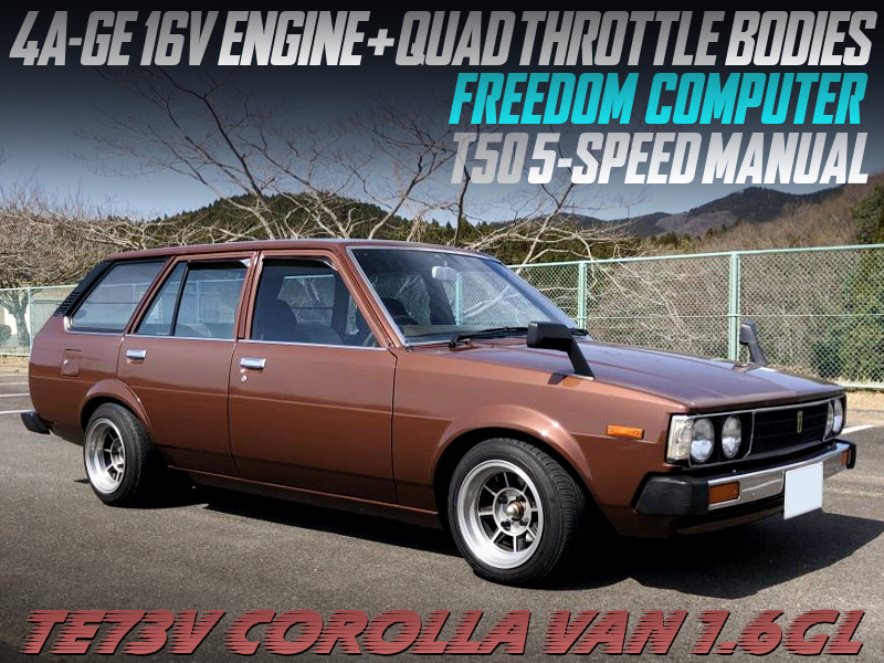 16V 4AGE with ITBs into TE73V COROLLA VAN.