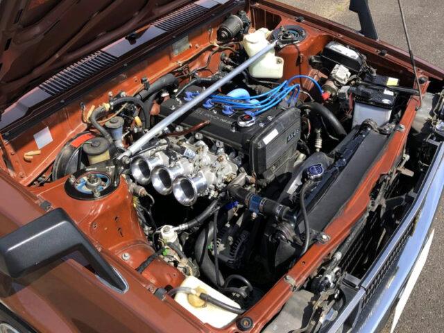 16-VALVE 4AGE ENGINE with AE101 QUAD THROTTLE BODIES.
