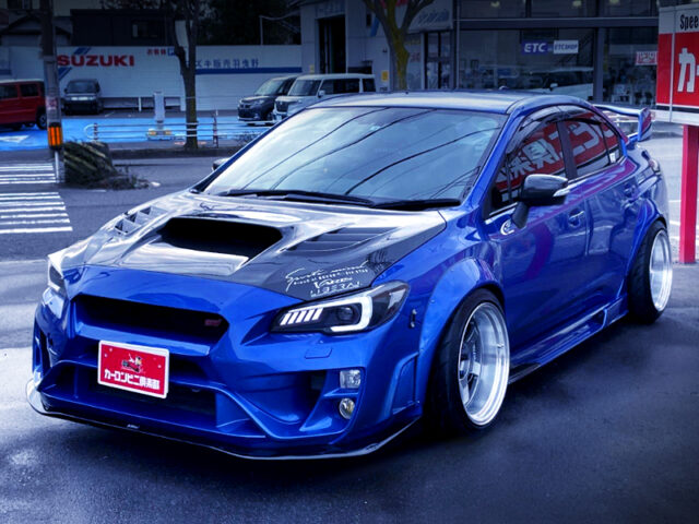 FRONT EXTERIOR OF VAB WRX STI WIDEBODY to BLUE.