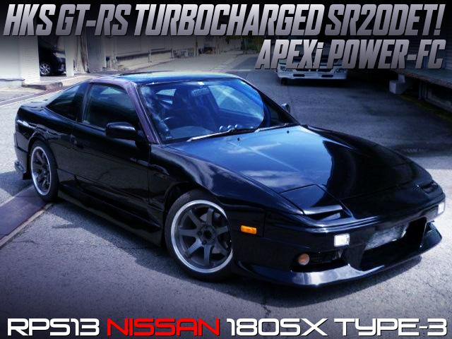 HKS GT-RS TURBOCHARGED 180SX TYPE-3 BLACK.