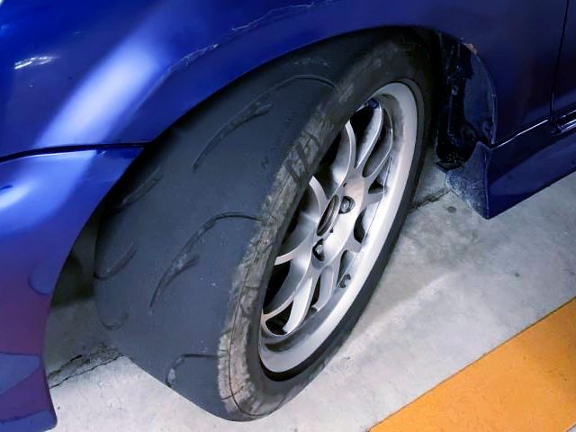FRONT WHEEL and TIRE.