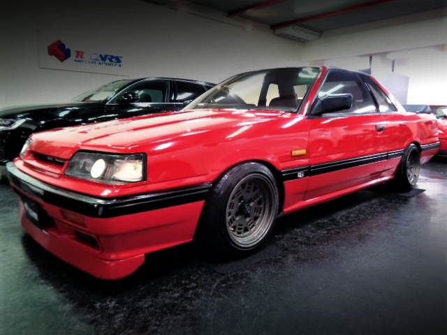 FRONT EXTERIOR OF 7th Gen R31 SKYLINE 2-DOOR RED.