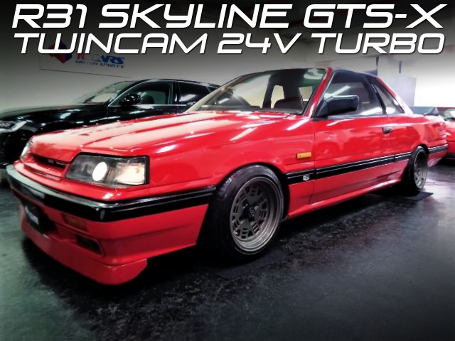 EXTERIOR RESTOMOD R31 SKYLINE 2-DOOR RED.