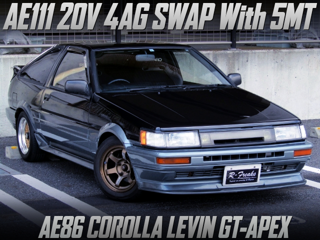 AE111 20V 4AG SWAP with 5MT INTO AE86 LEVIN 3-DOOR GT-APEX.