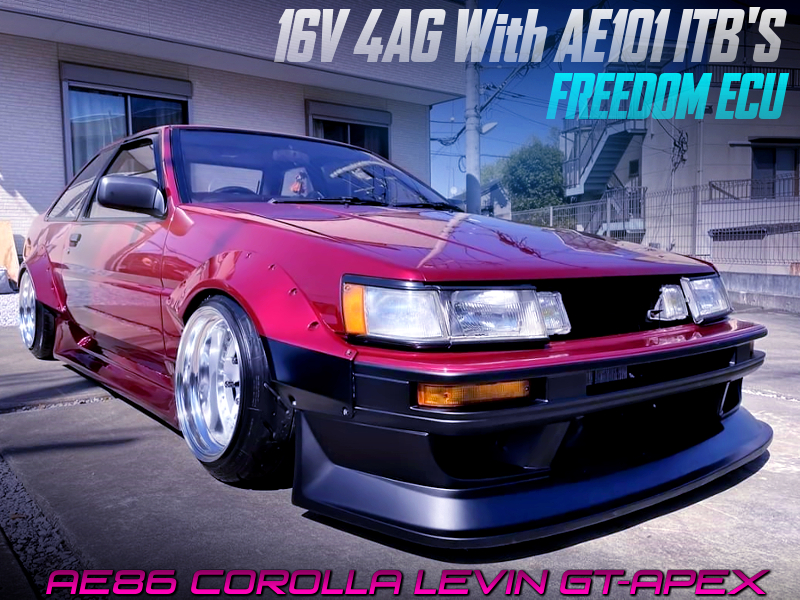 16V 4AG with AE101 ITB's And FREEDOM ECU into AE86 LEVIN 2-dooR GT-APEX WIDEBODY.