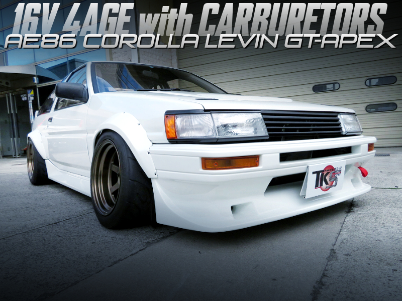 16V 4AGE with CARBS into AE86 LEVIN GT-APEX.