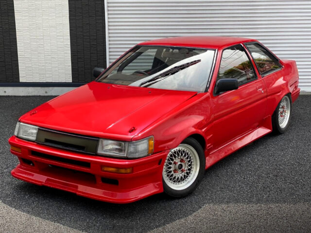 FRONT EXTERIOR OF AE86 LEVIN 2-DOOR WIDEBODY.
