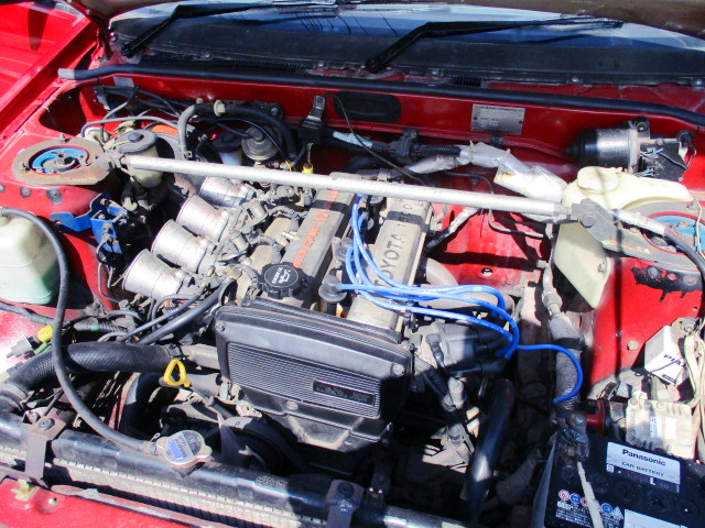 16V 4AGE 1600cc with 4-THROTTLE BODY.