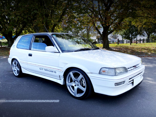FRONT EXTERIOR OF AE92 COROLLA FX GT.