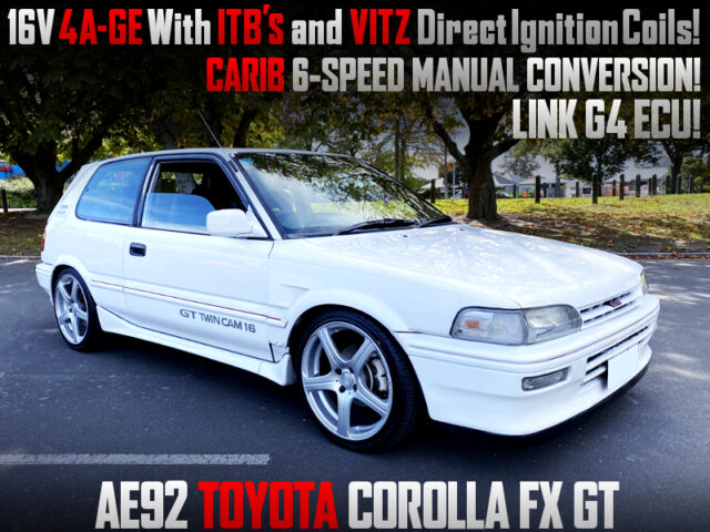 16V 4AGE with ITBs and VITZ DIRECT COILS into AE92 COROLLA FX GT White.