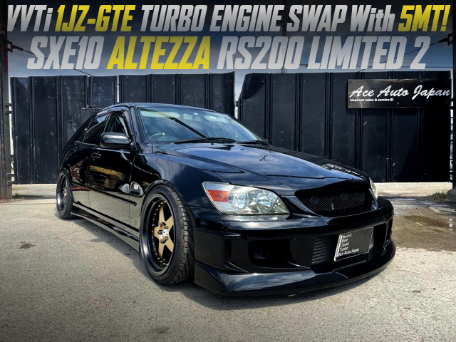 1JZ-GTE TURBO SWAPPED SXE10 ALTEZZA RS200 LIMITED 2.