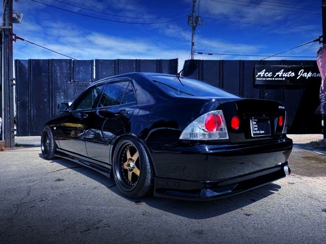 REAR EXTERIOR OF SXE10 ALTEZZA RS200 LIMITED 2 BLACK.