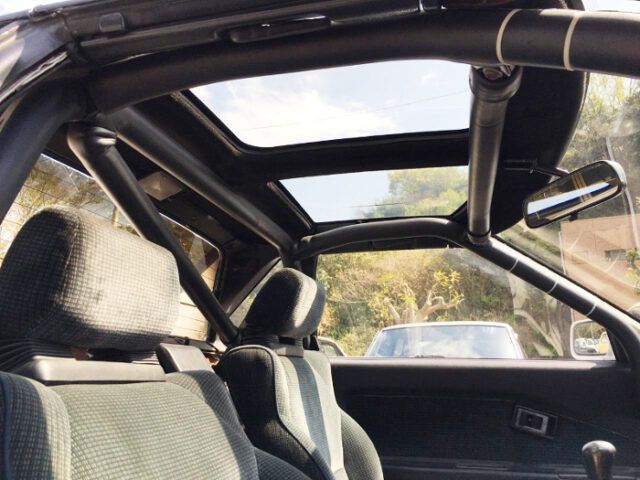 ROLL BAR AND T-BAR ROOF.