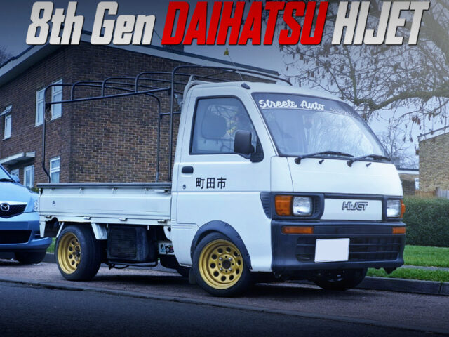 JDM STYLE MODIFIED 8th Gen DAIHATSU HIJET TRUCK WHITE.
