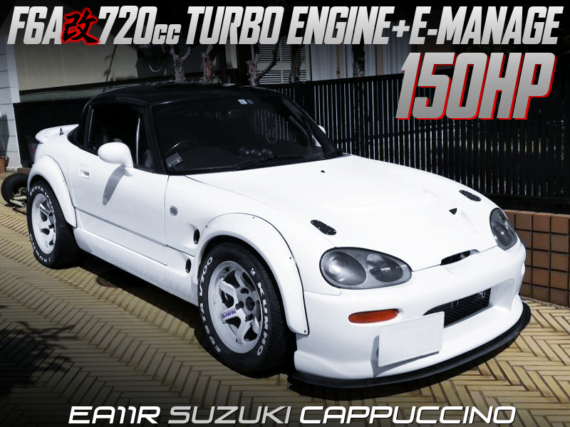 F6A 720cc TURBO ENGINE into EA11R CAPPUCCINO WIDEBODY.