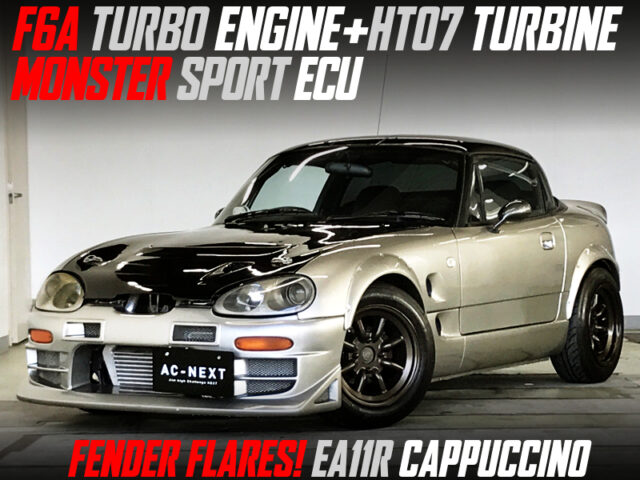 F6A with HT07 turbo and MONSTER SPORT ECU into EA11R CAPPUCCINO WIDEBODY GOLD.