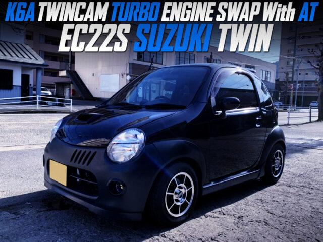 K6A TWINCAM TURBO ENGINE SWAP with AT INTO EC22S SUZUKI TWIN.