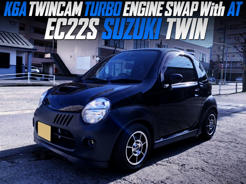 K6A TWINCAM TURBO ENGINE SWAP with AT INTO EC22S SUZUKI TWIN.