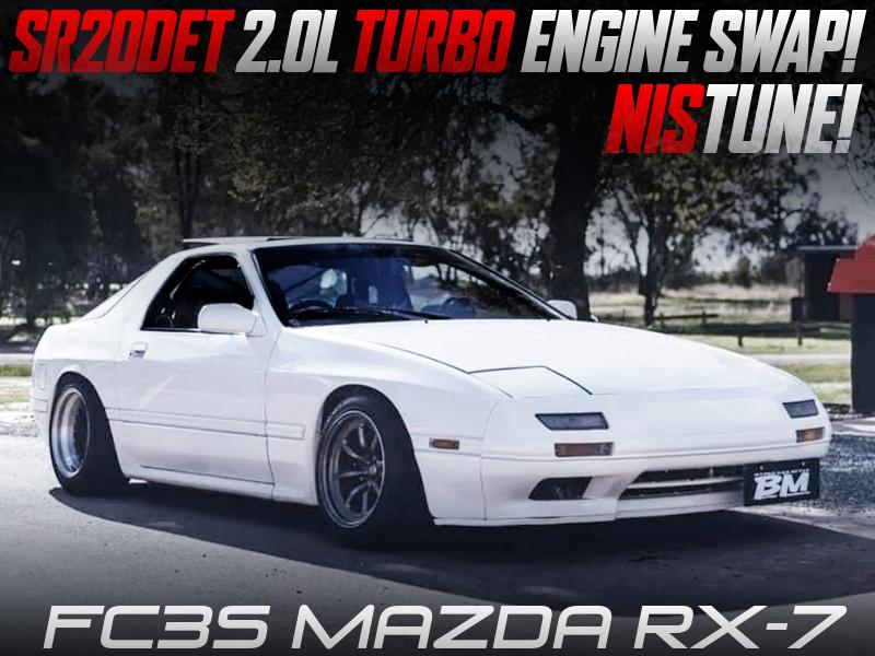 SR20DET TURBO ENGINE SWAPPED FC3S RX7 WHITE.