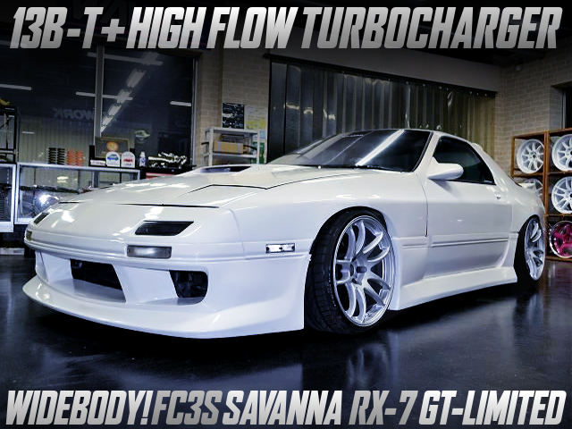 HIGH-FLOW TURBOCHARGED FC3S RX-7 GT-LIMITED WIDEBODY.