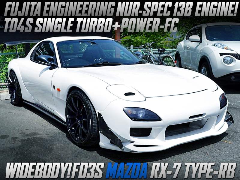 FEED NUR-SPEC 13B ENGINE with TO4S TURBO into FD3S RX-7.