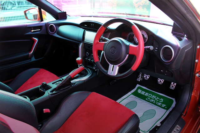 INTERIOR OF TOYOTA 86 GT LIMITED.
