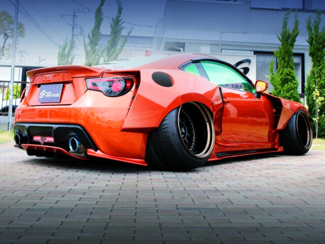REAR EXTERIOR OF TOYOTA 86 GT LIMITED WIDEBODY.