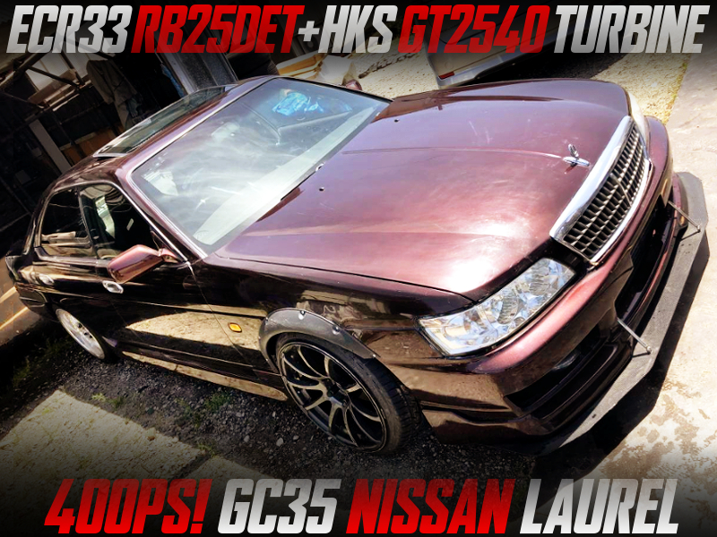GT2540 TURBOCHARGED RB25DET into GC35 LAUREL with BROWN PAINT.