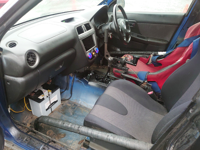 INTERIOR OF GG3 IMPREZA WAGON.