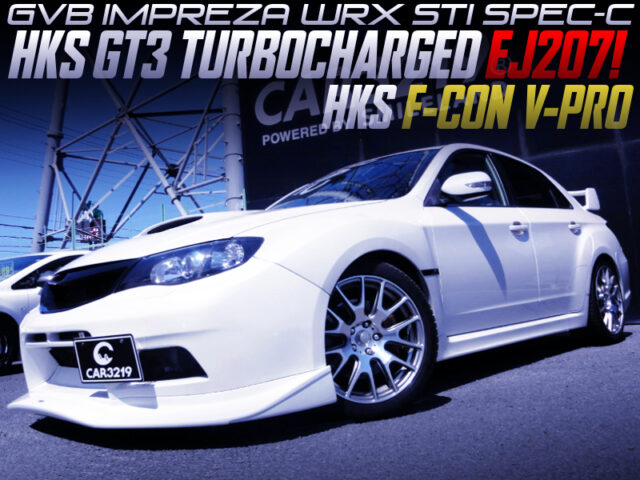 HKS GT3 TURBOCHARGED GVB IMPREZA WRX STI WHITE.