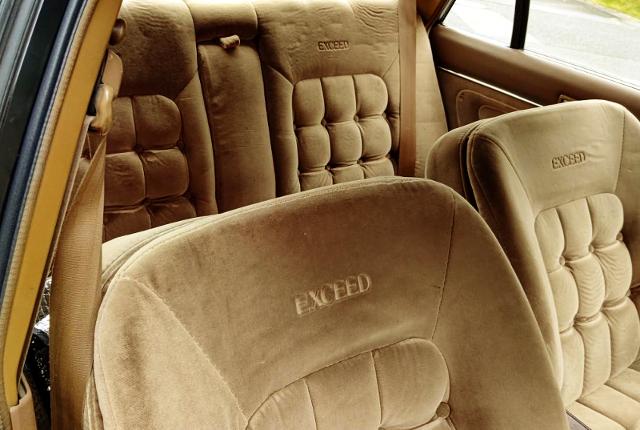 SEATS OF GX71 CRESTA EXCEED TWINCAM 24.