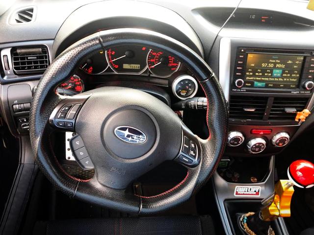 DRIVER'S DASHBOARD OF IMPREZA HATCH WRX.