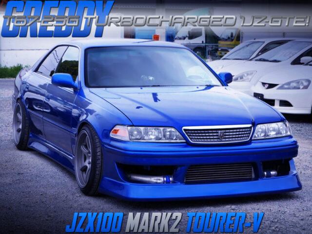 T67-25G SINGLE TURBOCHARGED JZX100 MARK 2 TOURER-V BLUE METALLIC.
