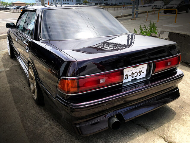 REAR EXTERIOR OF JZX81 MARK 2 BROWN.