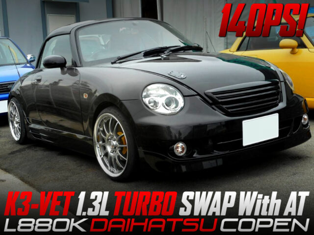 K3-VET 1.3L TURBO ENGINE SWAP With AT into L880K COPEN.