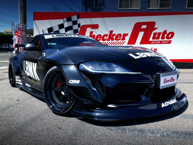 FRONT EXTERIOR OF GR SUPRA RZ With LB WORKS WIDEBODY.