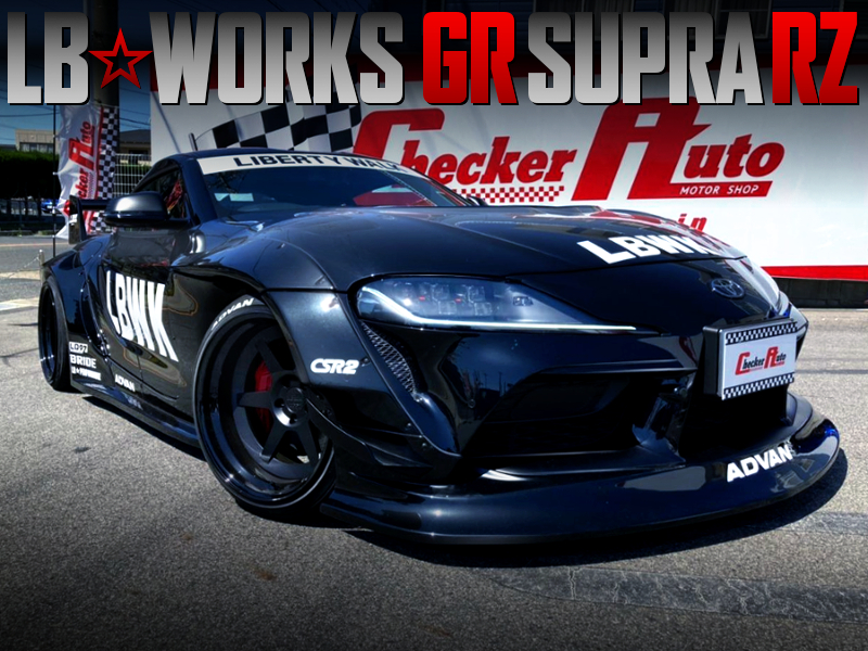 LB-WORKS WIDEBODY MODIFIED GR SUPRA RZ BLACK.